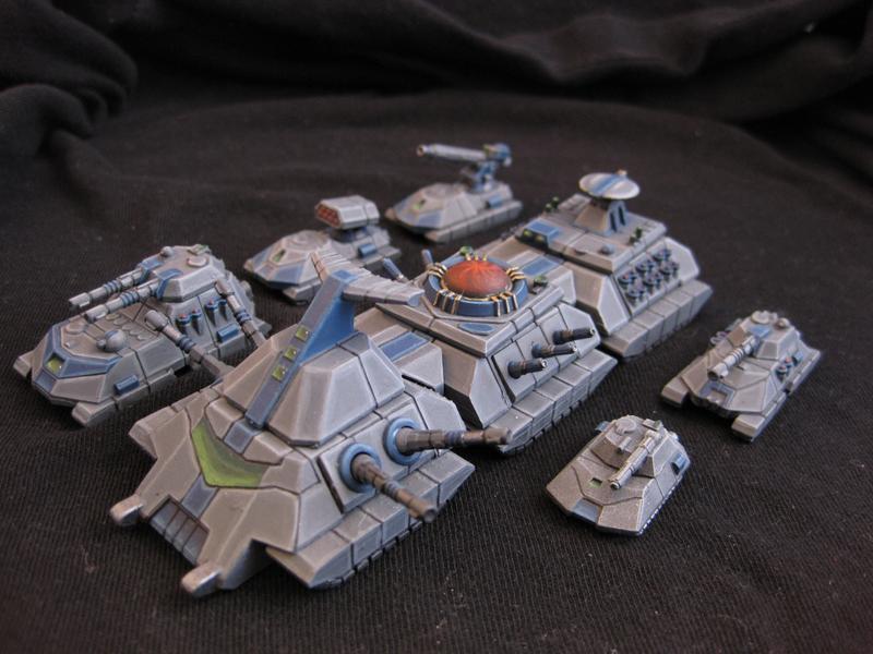 6mm Scifi Modular Supertanks | The Wargames Website