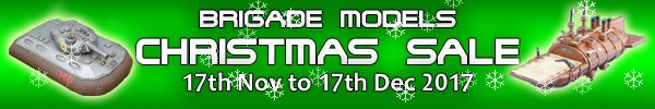 Brigade Models Christmas sale now on!