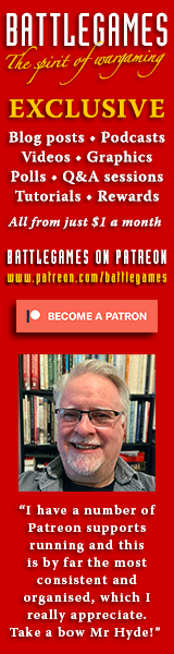 Battlegames on Patreon – online content for wargamers produced by Henry Hyde