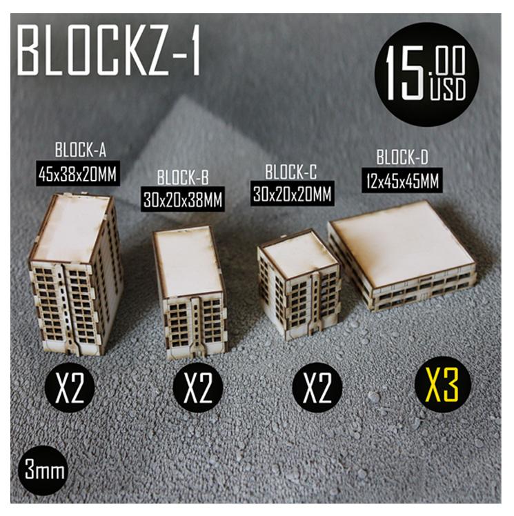 Iliada Game Studio 3mm BLOCKZ-1 | The Wargames Website