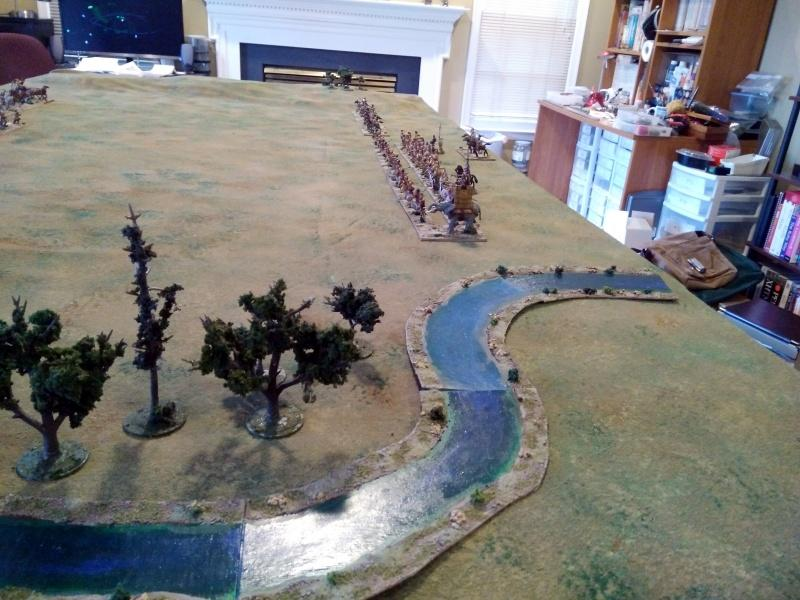 The Punic force from the other side of the river.