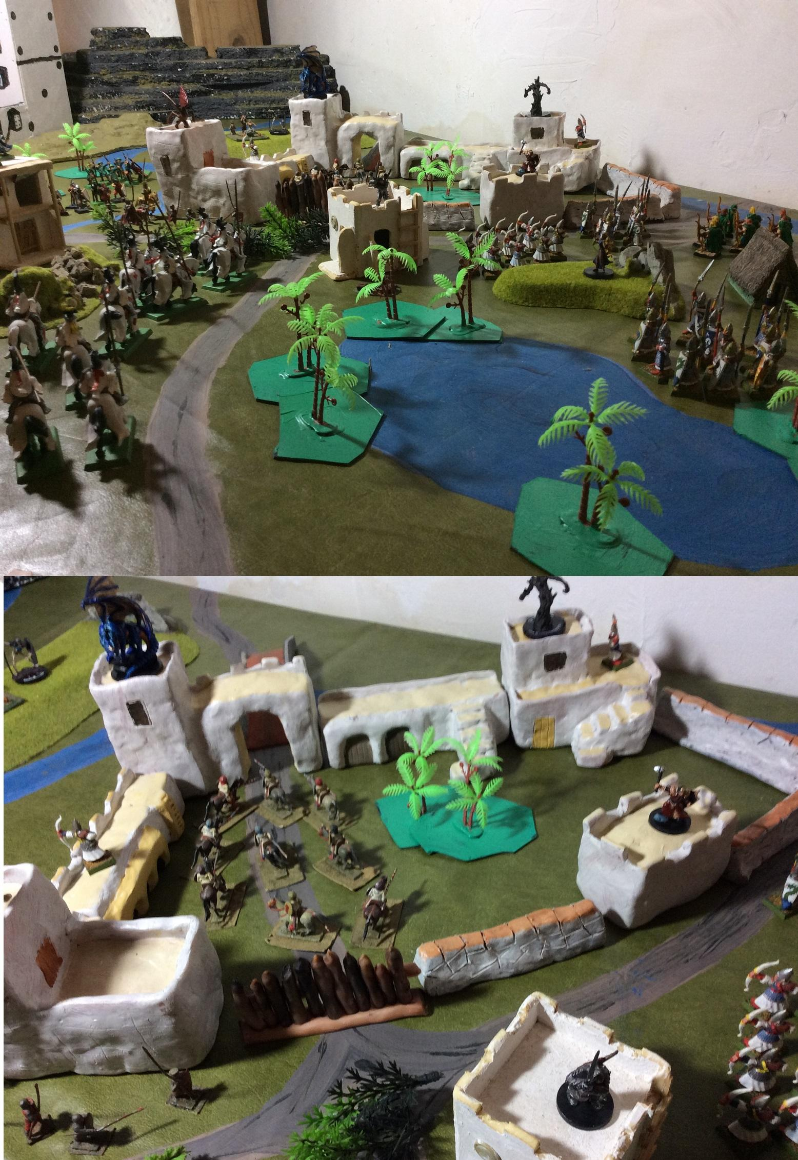 clay sculpted fortress