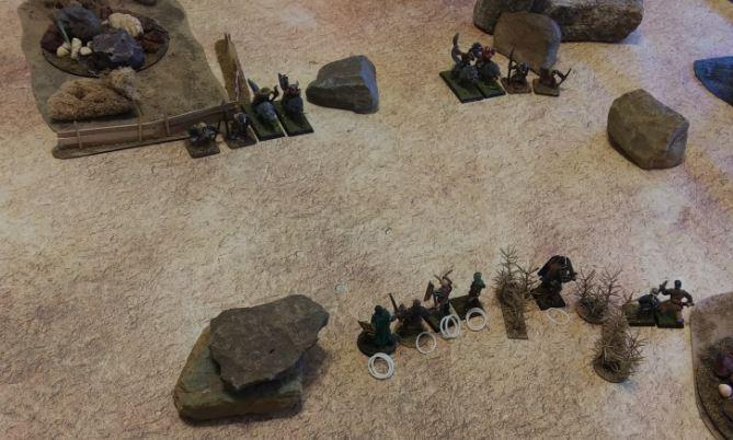 The boys square off against some tribesmen (Sand Goblins!)
