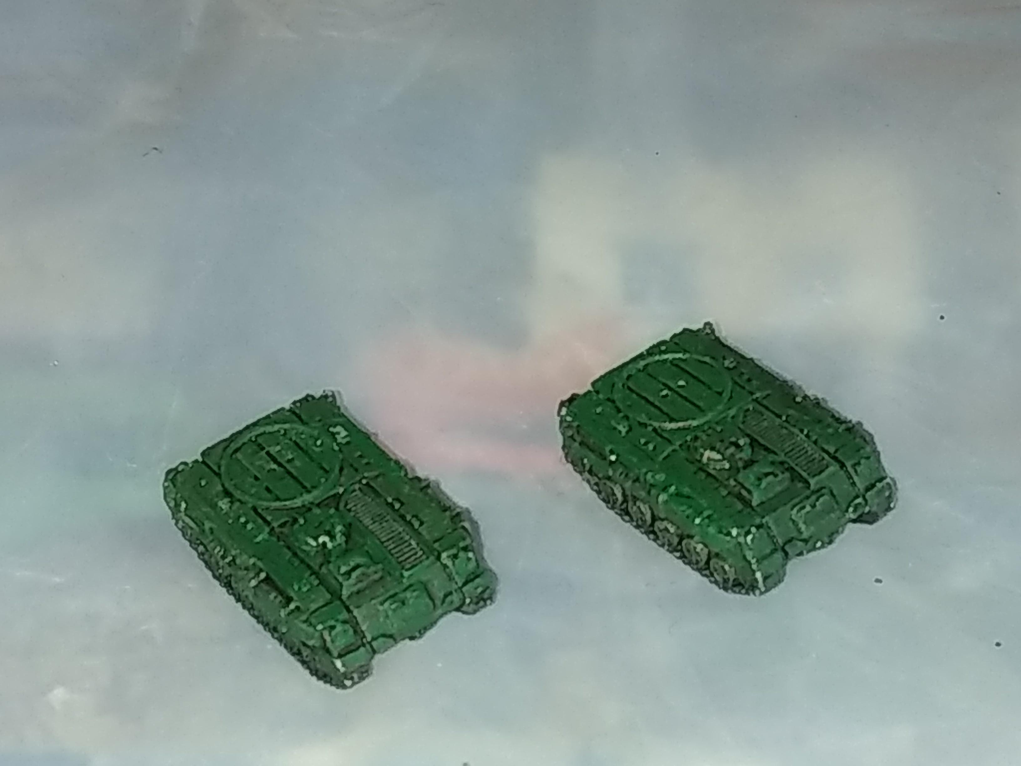 My first attempt at at a dark angels rhino proxy in 3mm