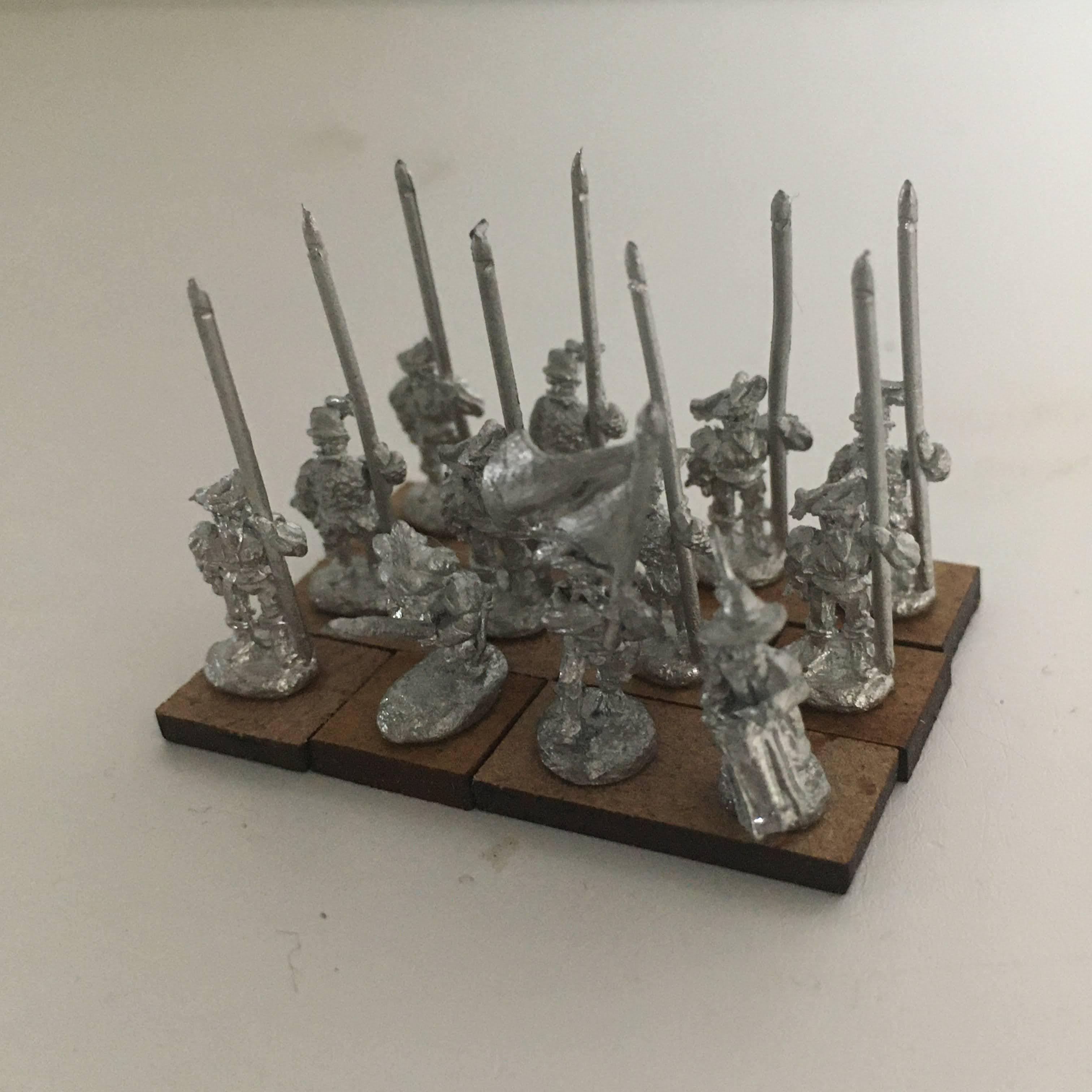 a unit of 12 spearmen