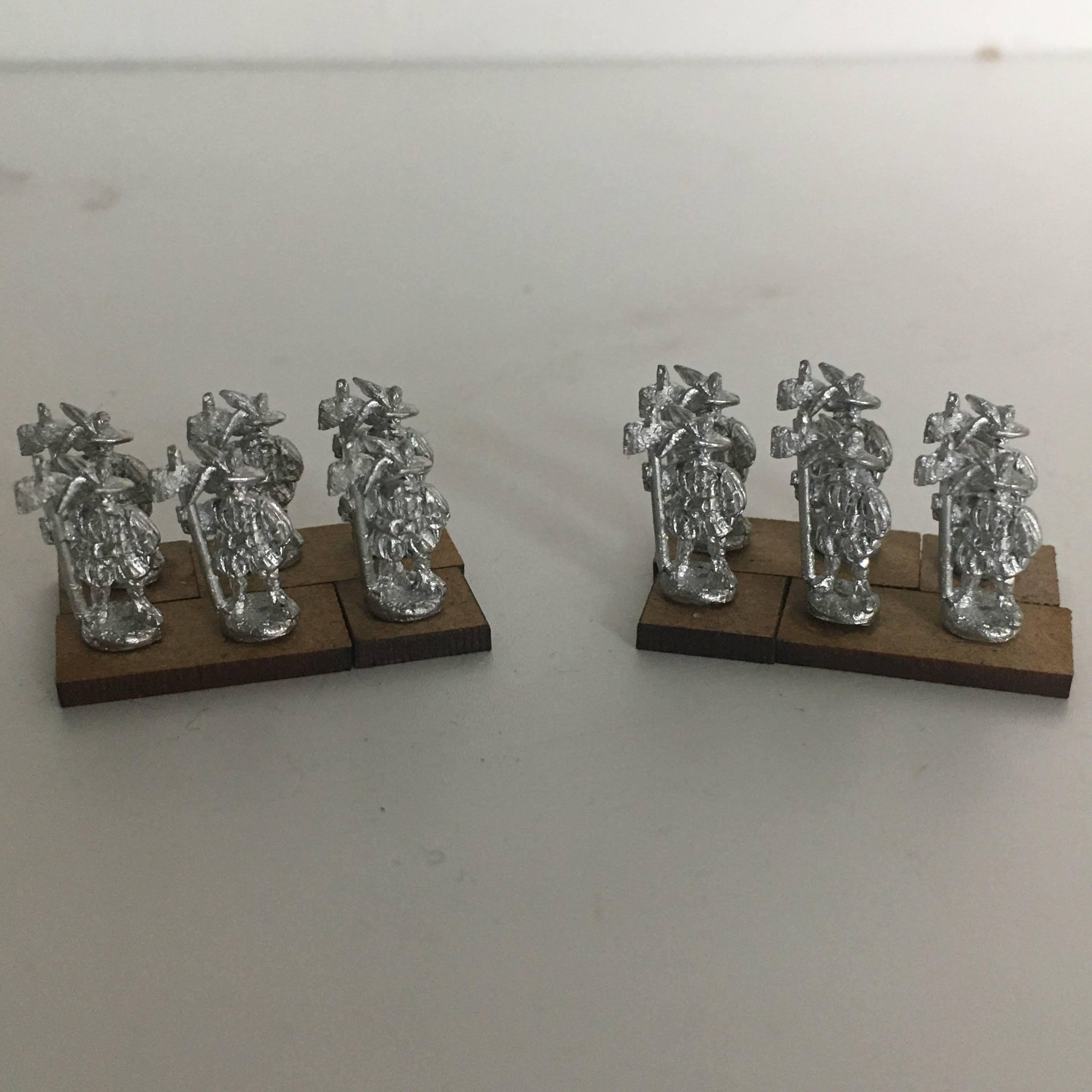 two units of 6 Halberdiers