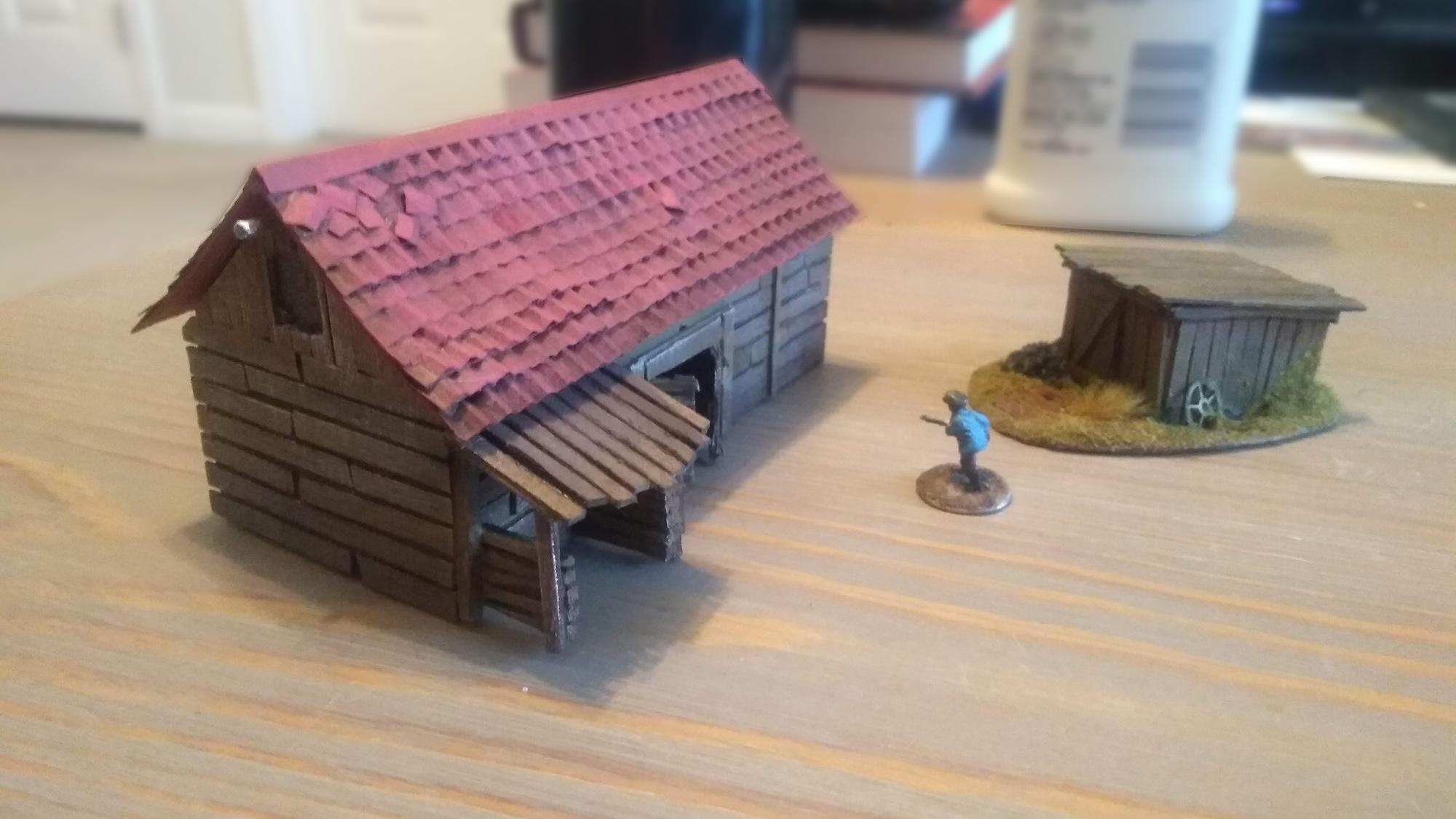15mm barn and shed - mini for scale