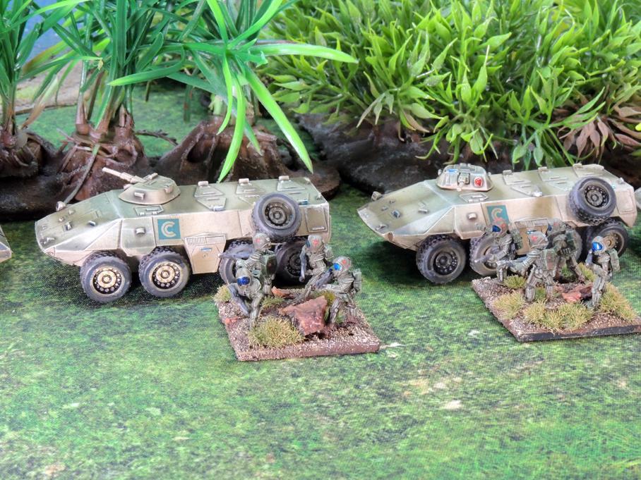 Clarks Commandos infantry close up